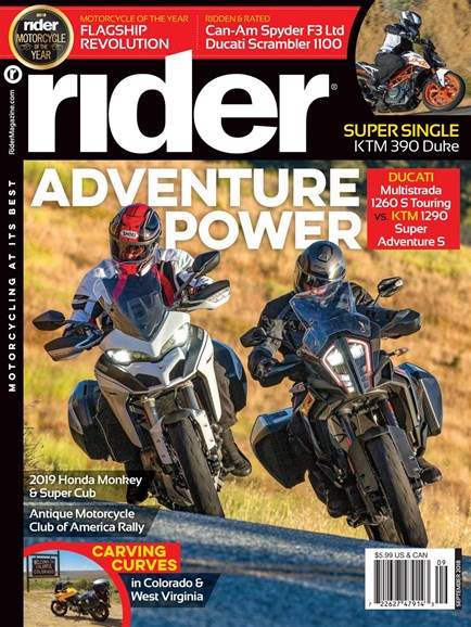Rider Cover - 9/1/2018