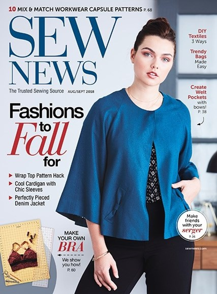 Sew News Cover - 8/1/2018