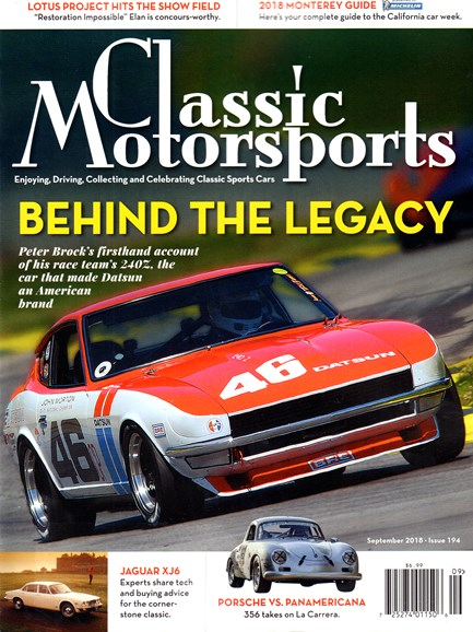 Classic Motorsports Cover - 9/1/2018