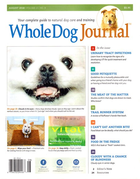 Whole Dog Journal Cover - 8/1/2018