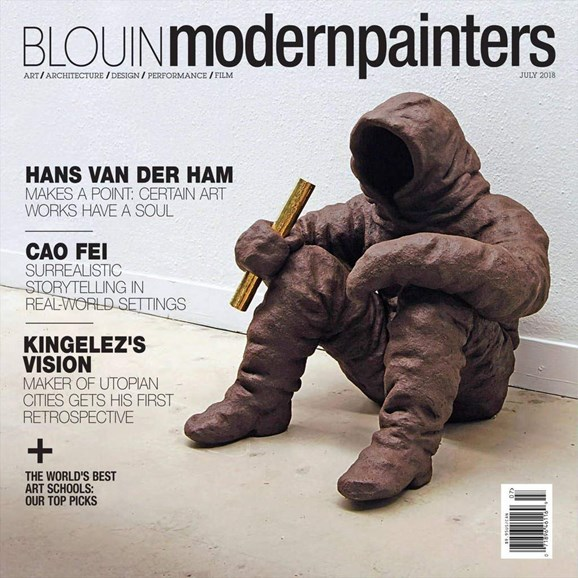 Blouin Modern Painters Cover - 7/1/2018