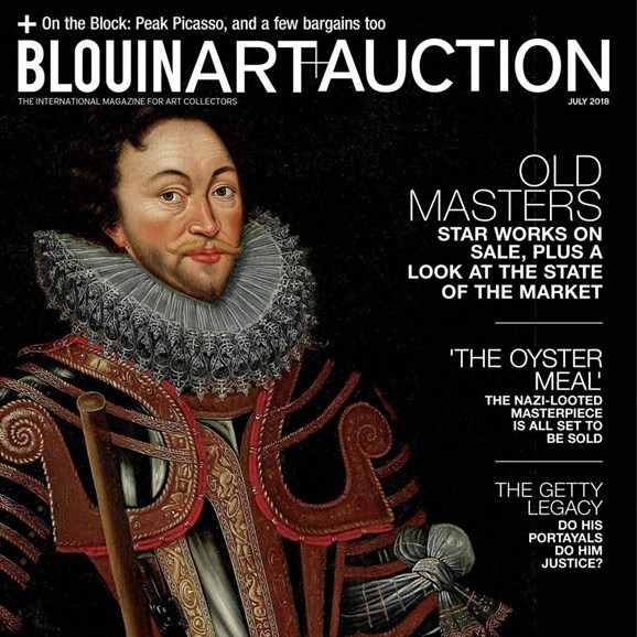 Blouin Art & Auction Cover - 7/1/2018