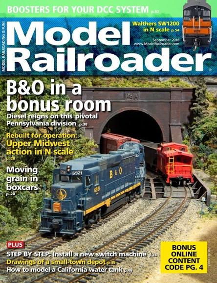 Model Railroader Cover - 9/1/2018