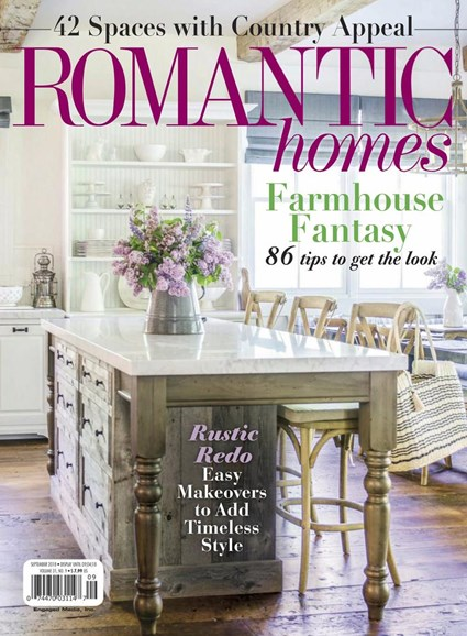 Romantic Homes Cover - 9/1/2018