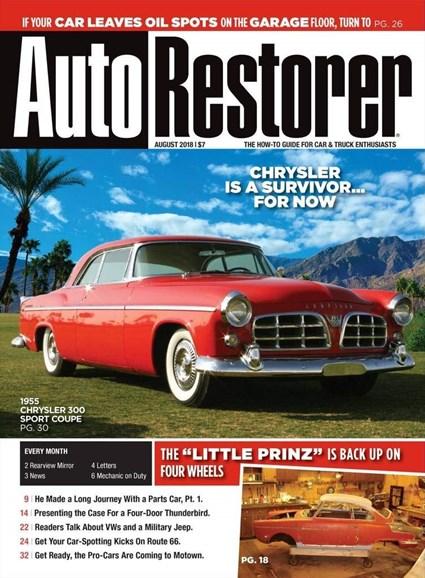 Auto Restorer Cover - 8/1/2018