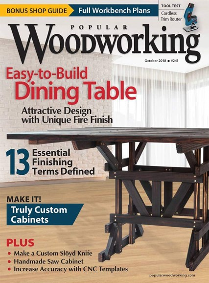 Popular Woodworking Cover - 10/1/2018