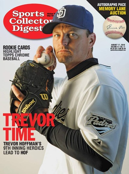 Sports Collectors Digest Cover - 8/17/2018