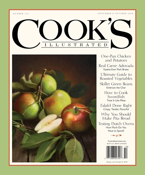 Cook's Illustrated Cover - 9/1/2018