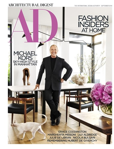 Architectural Digest Cover - 9/1/2018