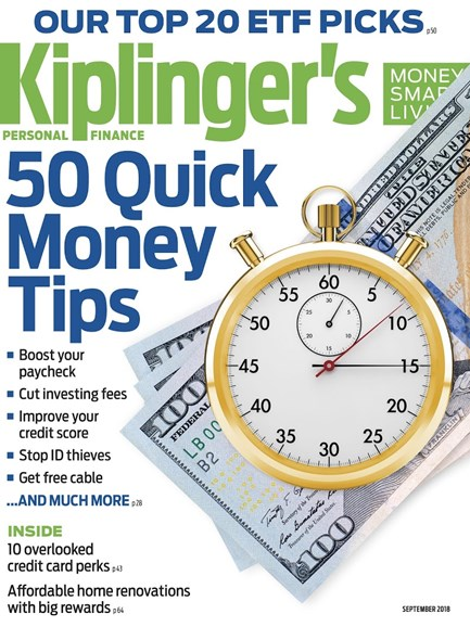 Kiplinger's Personal Finance Cover - 9/1/2018