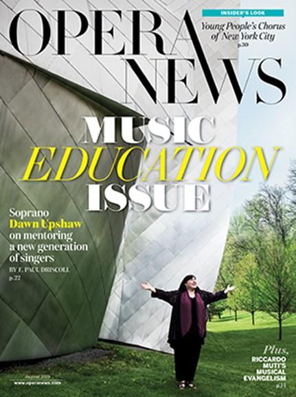Opera News Cover - 8/1/2018
