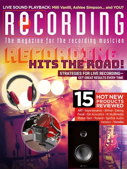 Recording Magazine Cover - 8/1/2018