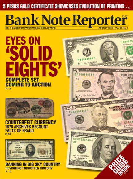 Bank Note Reporter Cover - 8/1/2018