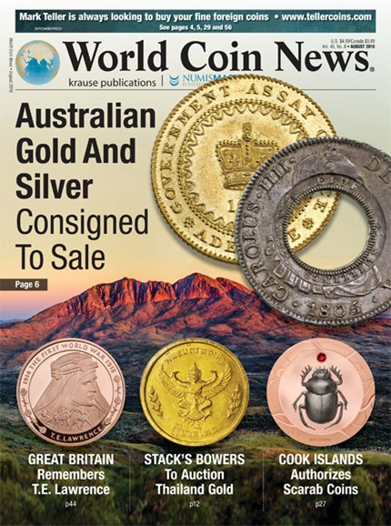 World Coin News Cover - 8/1/2018