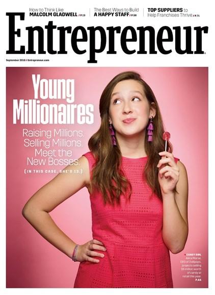 Entrepreneur Cover - 9/1/2018