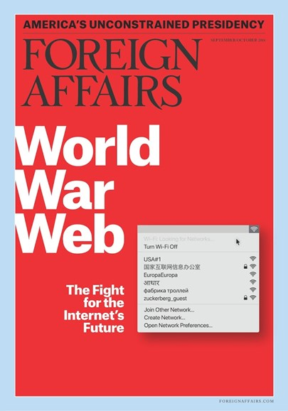 Foreign Affairs Cover - 9/1/2018