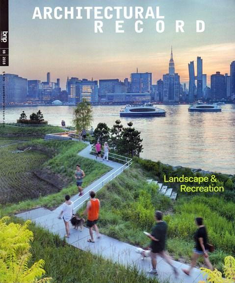 Architectural Record Cover - 8/1/2018