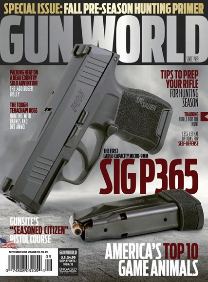 Gun World Cover - 9/1/2018