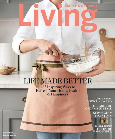Martha Stewart Living Cover - 9/1/2018