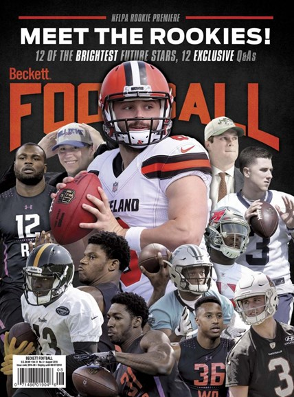 Beckett Football  Cover - 8/1/2018