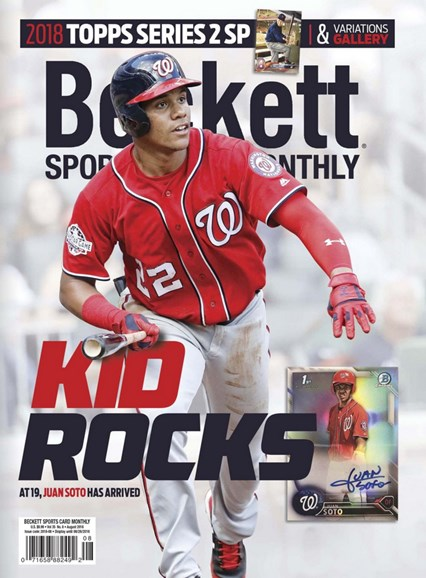 Beckett Sports Card Monthly Cover - 8/1/2018