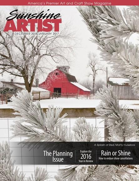 Sunshine Artist Cover - 12/1/2016