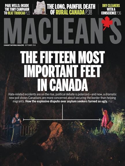 Maclean's Cover - 9/1/2018