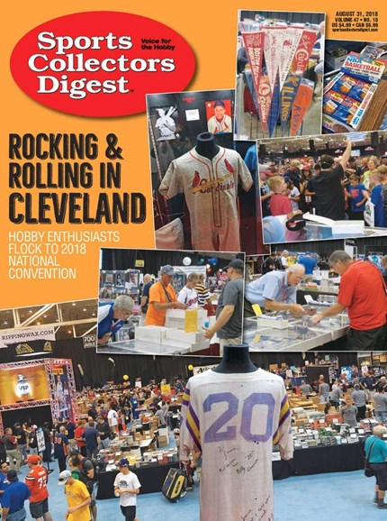 Sports Collectors Digest Cover - 8/31/2018