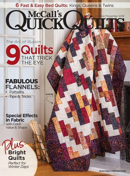 McCall's Quick Quilts Cover - 10/1/2018