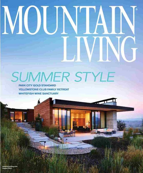 Mountain Living Cover - 8/1/2018