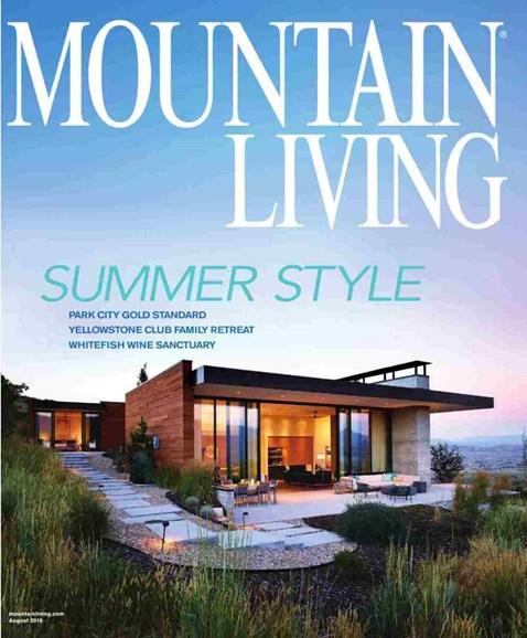 Mountain Living Cover - 8/1/2018