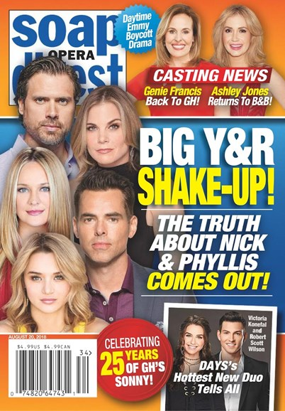 Soap Opera Digest Cover - 8/20/2018