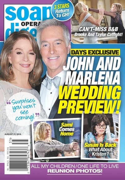 Soap Opera Digest Cover - 8/27/2018