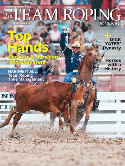 The Team Roping Journal Cover - 9/1/2018