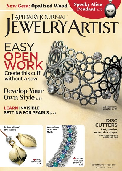 Lapidary Journal Jewelry Artist Cover - 9/1/2018
