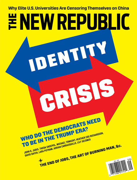 The New Republic Cover - 9/1/2018