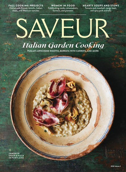 Saveur Cover - 9/1/2018