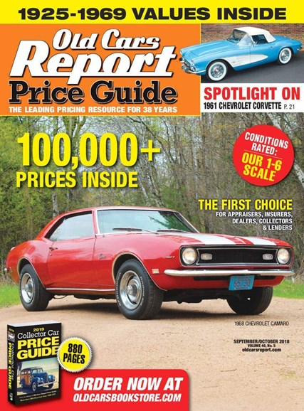 Old Cars Report Price Guide Cover - 9/1/2018