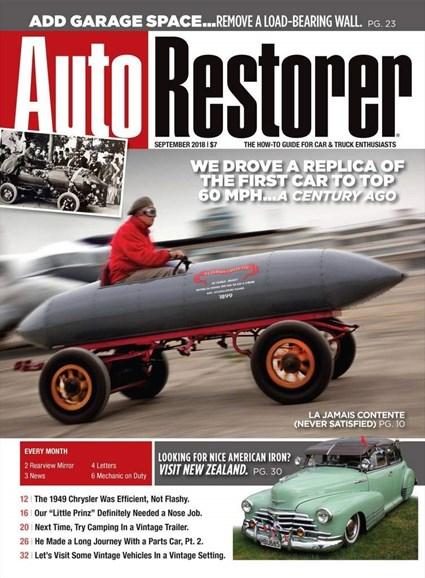 Auto Restorer Cover - 9/1/2018