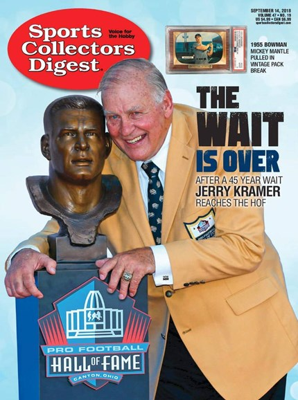 Sports Collectors Digest Cover - 9/14/2018