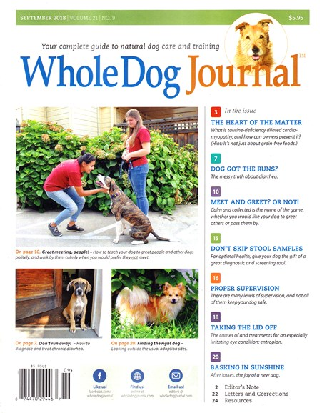 Whole Dog Journal Cover - 9/1/2018