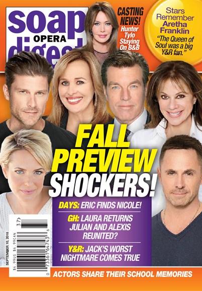 Soap Opera Digest Cover - 9/10/2018