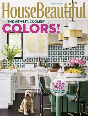 House Beautiful Magazine 9 2018 Cover