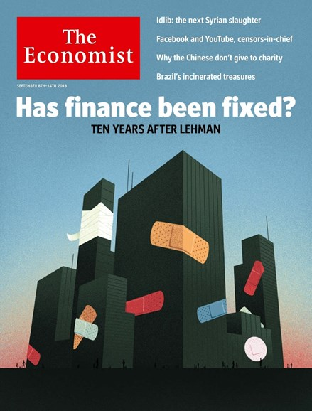 The Economist Cover - 9/8/2018