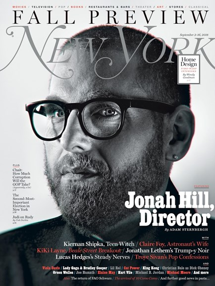 New York Magazine Cover - 9/3/2018