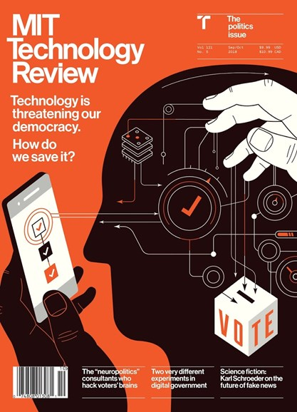 MIT Technology Review Cover - 9/1/2018