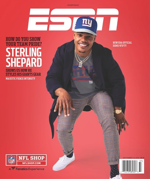 ESPN The Magazine Cover - 9/10/2018