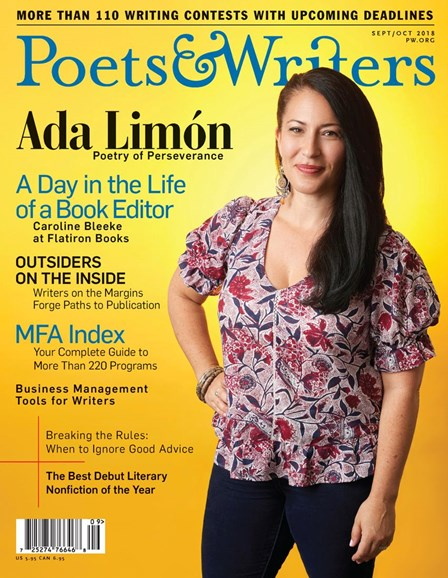 Poets & Writers Cover - 9/1/2018