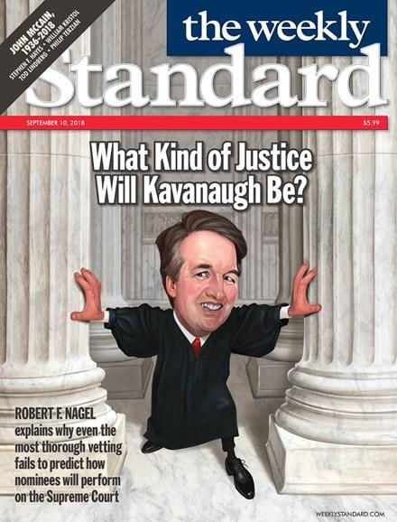 Washington Examiner Cover - 9/10/2018