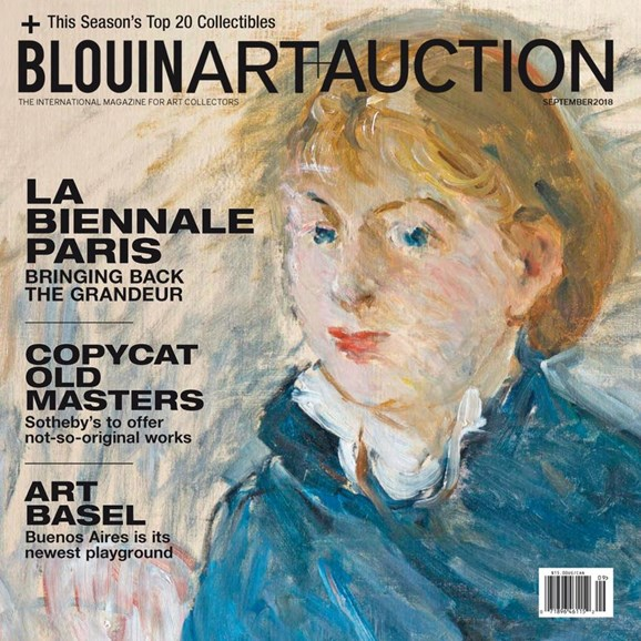 Blouin Art & Auction Cover - 9/1/2018